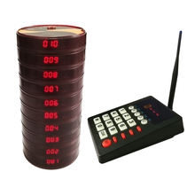 Restaurant Pagers 433.92MHz Coaster Pagers Wireless Guest Waiter Queuing System