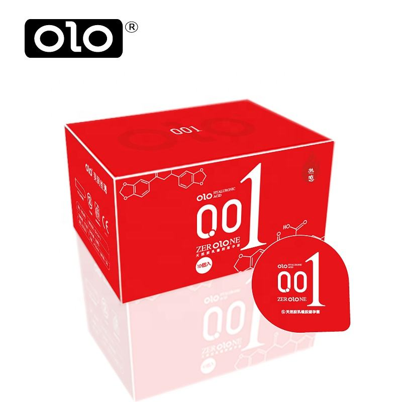 OLO hyaluronic acid ultra thin 001 dragon condoms for men fun export 10 Pack adult products condom