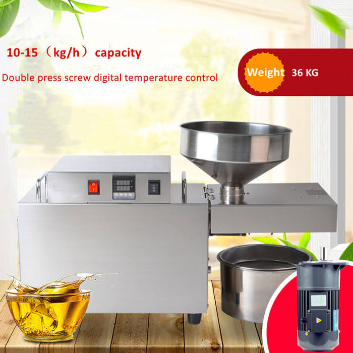 low price 10-15kg/h small coconut oil mill machinery / coconut oil press