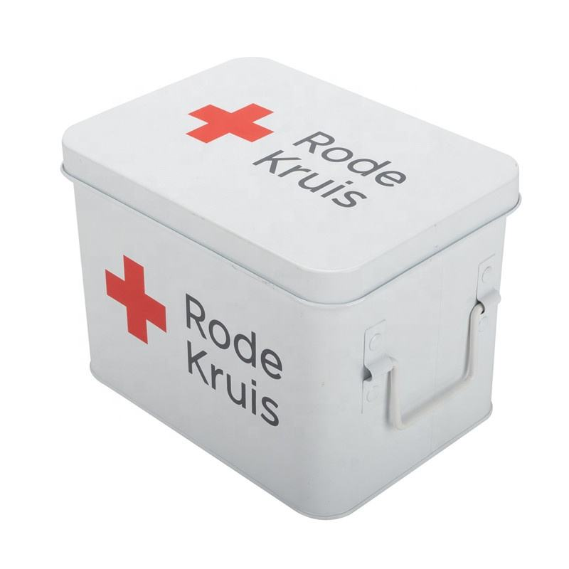Hot Selling Tin Metal Home Use Car Use First Aid Kit First Aid Box Medicine Storage Box for Restaurant Hotel