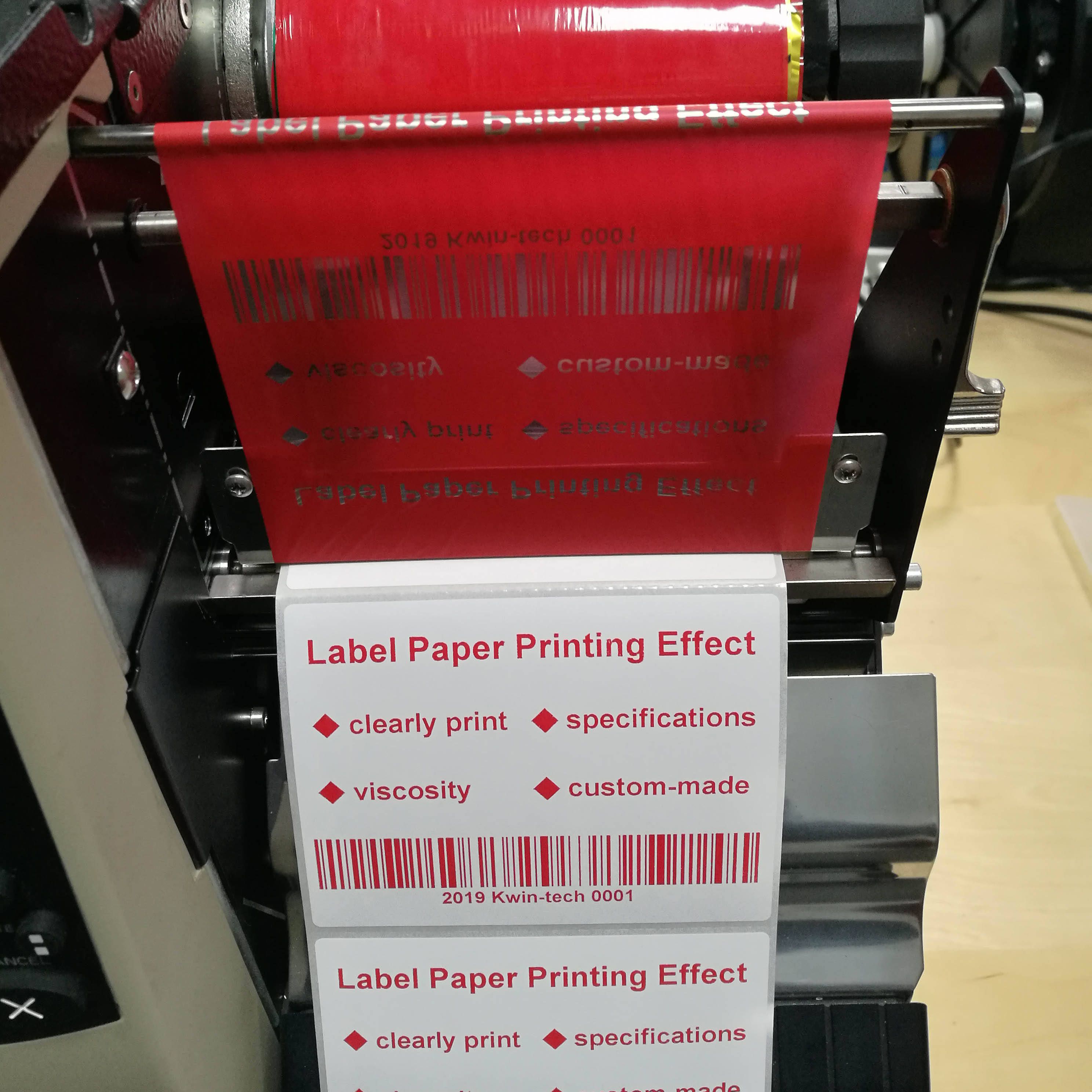 1 Inch Label Barcode Printer Verbruiksartikelen Zebra Printer 110mm Thermische Transfer Rode Hars Lint