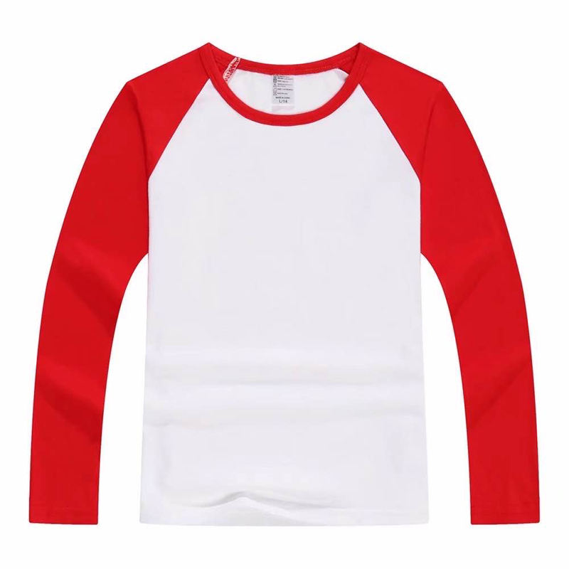 Fashion Style Sublimation Raglan Long Sleeve T-shirt Clothing