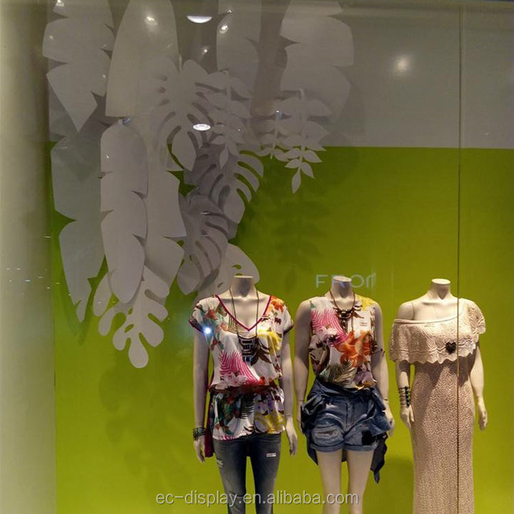 Kertas Bulu Alat Peraga Spring Window Display Case Dekorasi Bulu