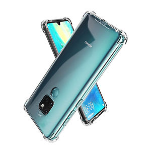 Corner Bumper Clear Phone Covers soft TPU Cell Case Phone for Huawei mate 20 30 Pro Crystal phone Case for iPhone 7 8 XS