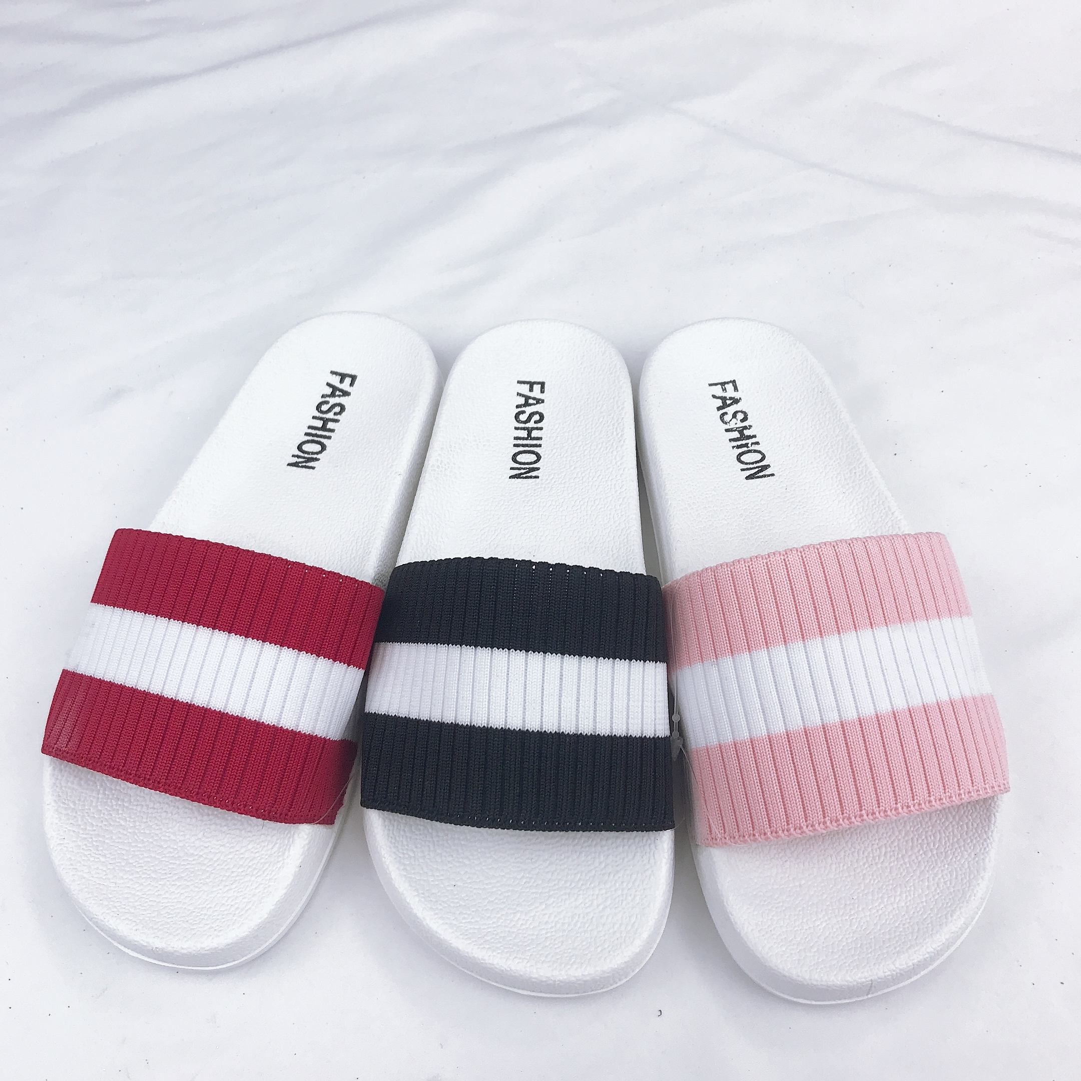 Cheap Wholesale PVC Bathroom Slipper Anti-Slip Indoor Home House Slippers Women
