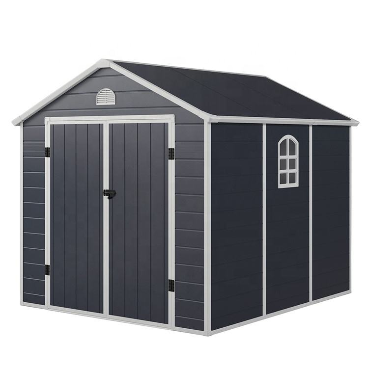 6.2x9.2FT New Model Anti UV Plastic Garden Shed for sale
