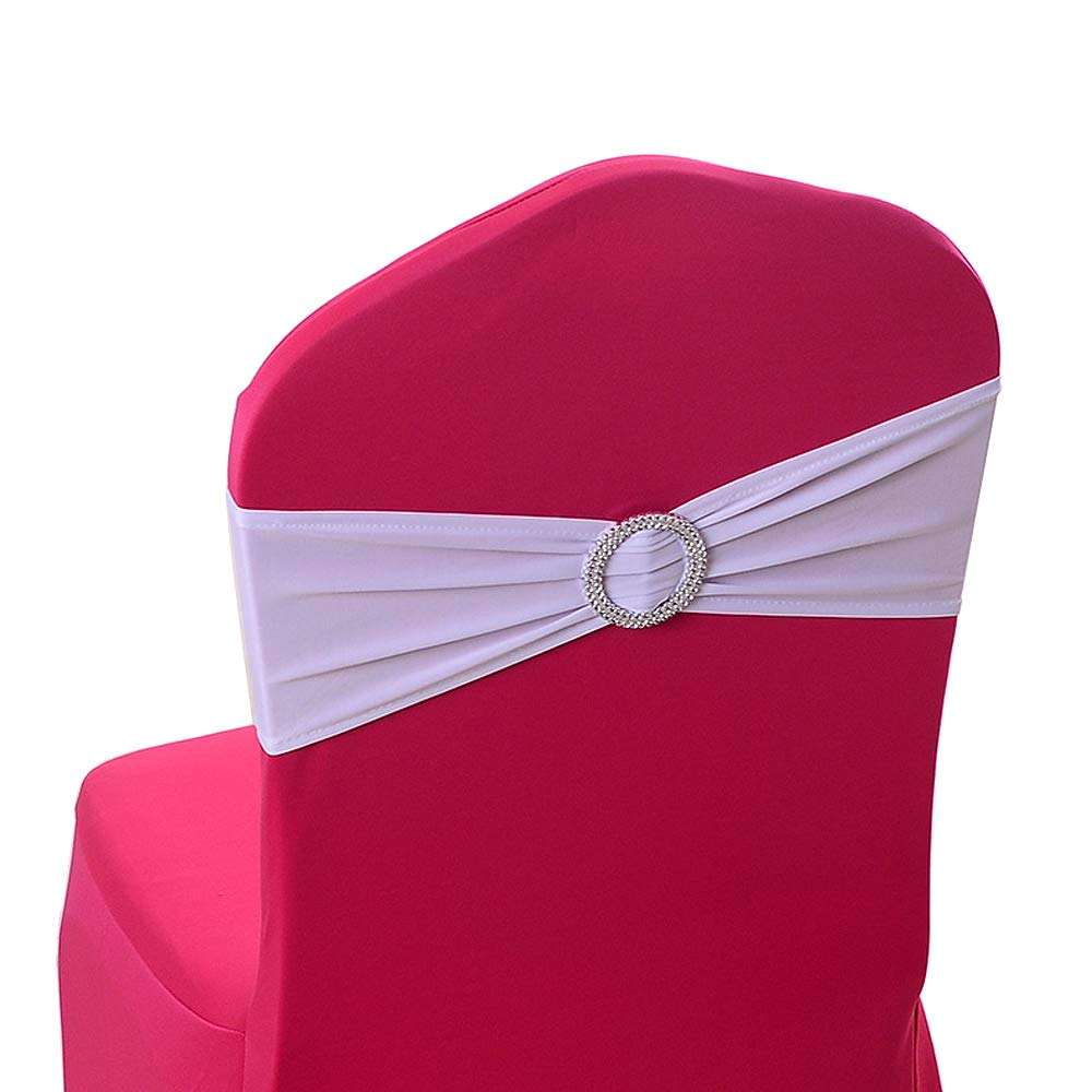 Cheap colorful elastic stretch spandex chair sashes for wedding party