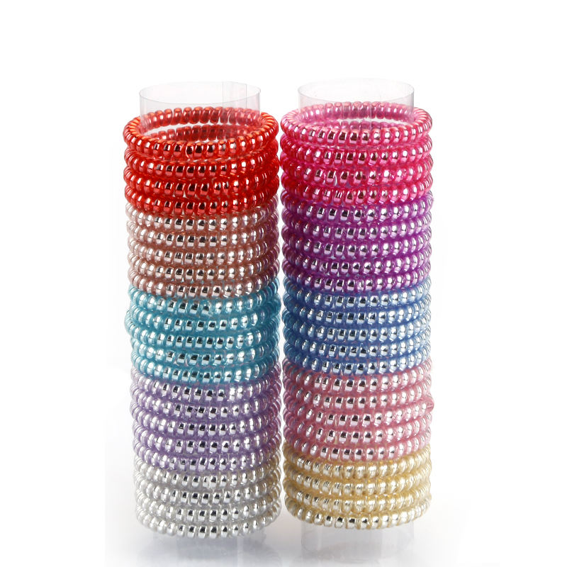 Professional Wholesale Skinny Shiny Metal Coil Hair Elastic Band