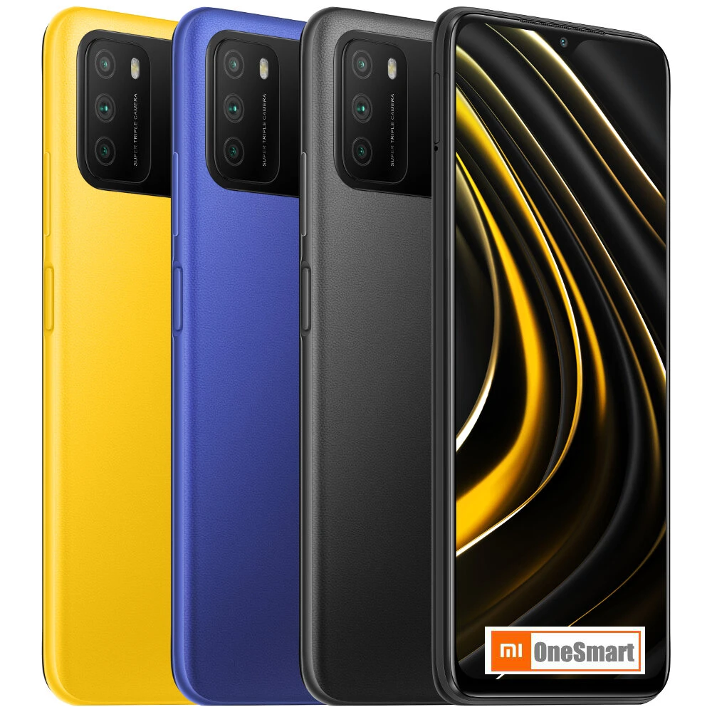 Xiaomi — smartphone, Poco M3, Android 10, MIUI 12, 48mp, 6000mah, téléphone intelligent, version internationale, Original