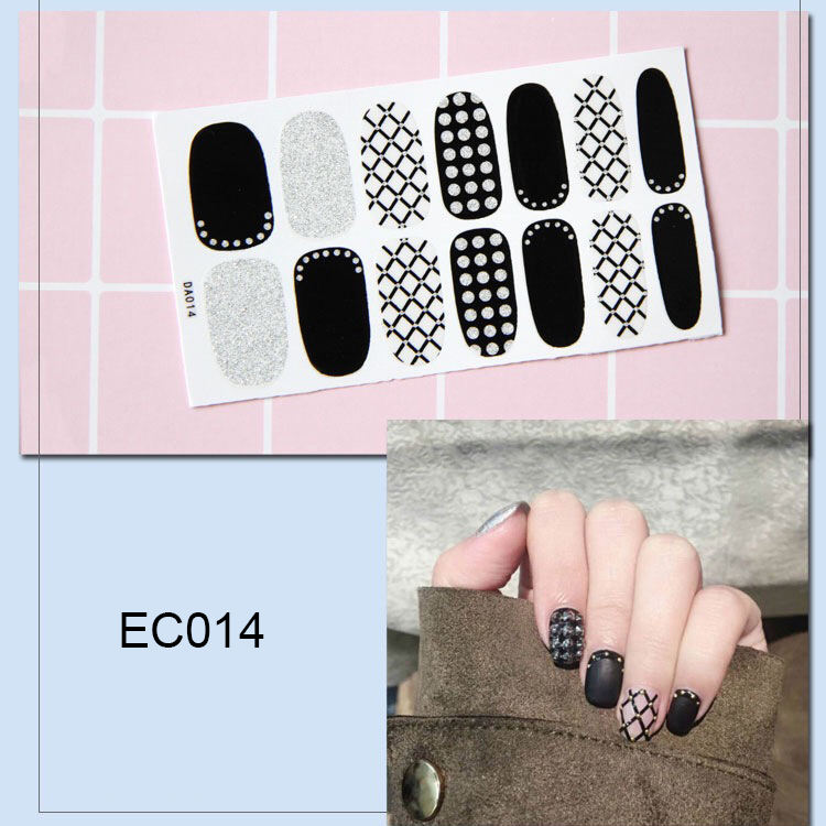 new nail sticker printing machine make 16pcs nail colorful stickers