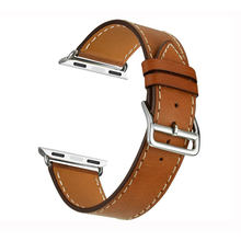 Smart Single Tour Leather Watch Band Strap, Genuine Leather Band 38mm 42mm + Adapter For Apple Watch