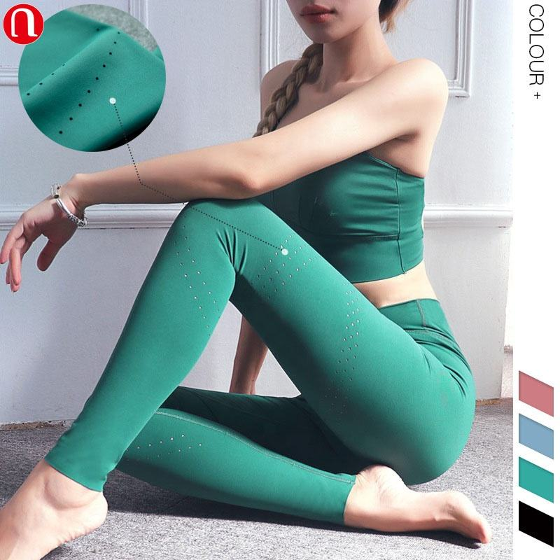 Luluyun Wholesale workout clothing fashion Gym Activewear New Arrival Nylon Spandex Laser Cut Women Fitness Yoga Leggings