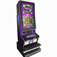 2019 New video games 88 Fortunes Curved LCD Screen Slot Game Machine