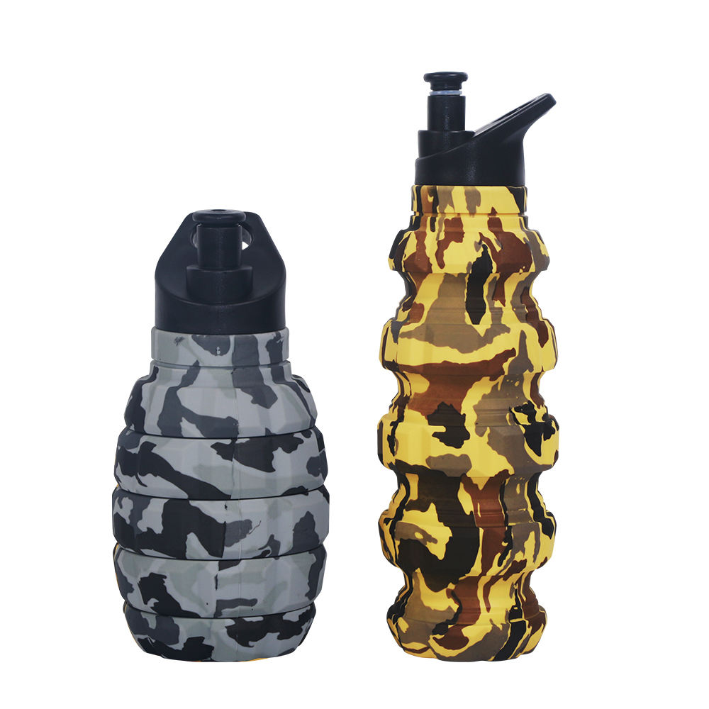 Wholesale Eco-Friendly Food Grade Sport 580Ml Grenade Silicone Water Bottle