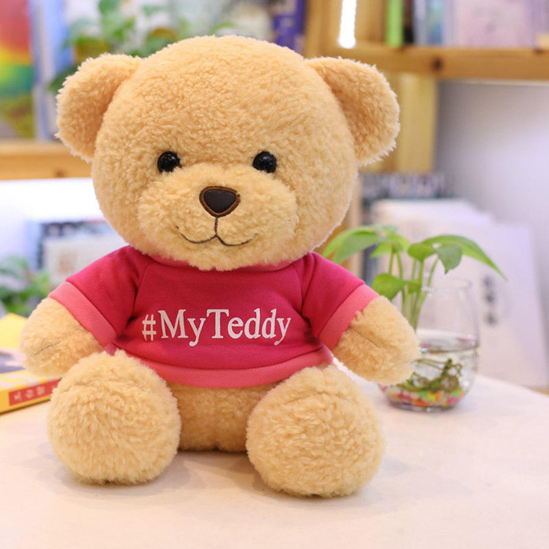 25cm Promotional Wholesale Stuffed Teddy Bear With T Shirt Custom Logo Teddy Bear Soft Toy