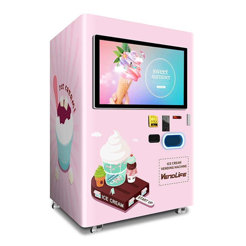 Auto frozen yogurt soft ice cream vending machine with credit card payment coin operated