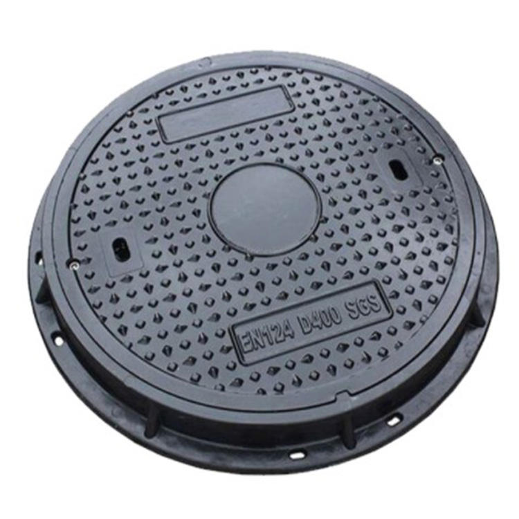 Densen customized ductile iron Manhole Cover with hinge and lock,water tank manhole cover,rectangular manhole cover