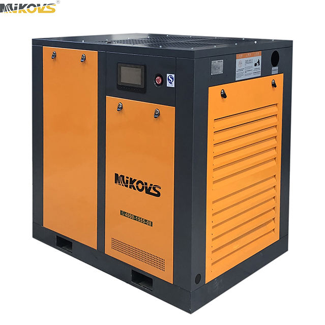 20hp 15kw 10bar Low Noise Riem Aangedreven Schroef Compressor Industriële Gas Compressor