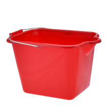 High Quality Plastic PP Red Blue Rectangular Water Bucket with handle