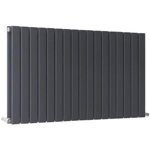 600 x 1428 mm Anthracite Designer Horizontal Column Radiators Double Flat Panel For Home Central Heating