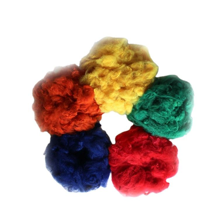 colored recycled polyester staple fiber with good price