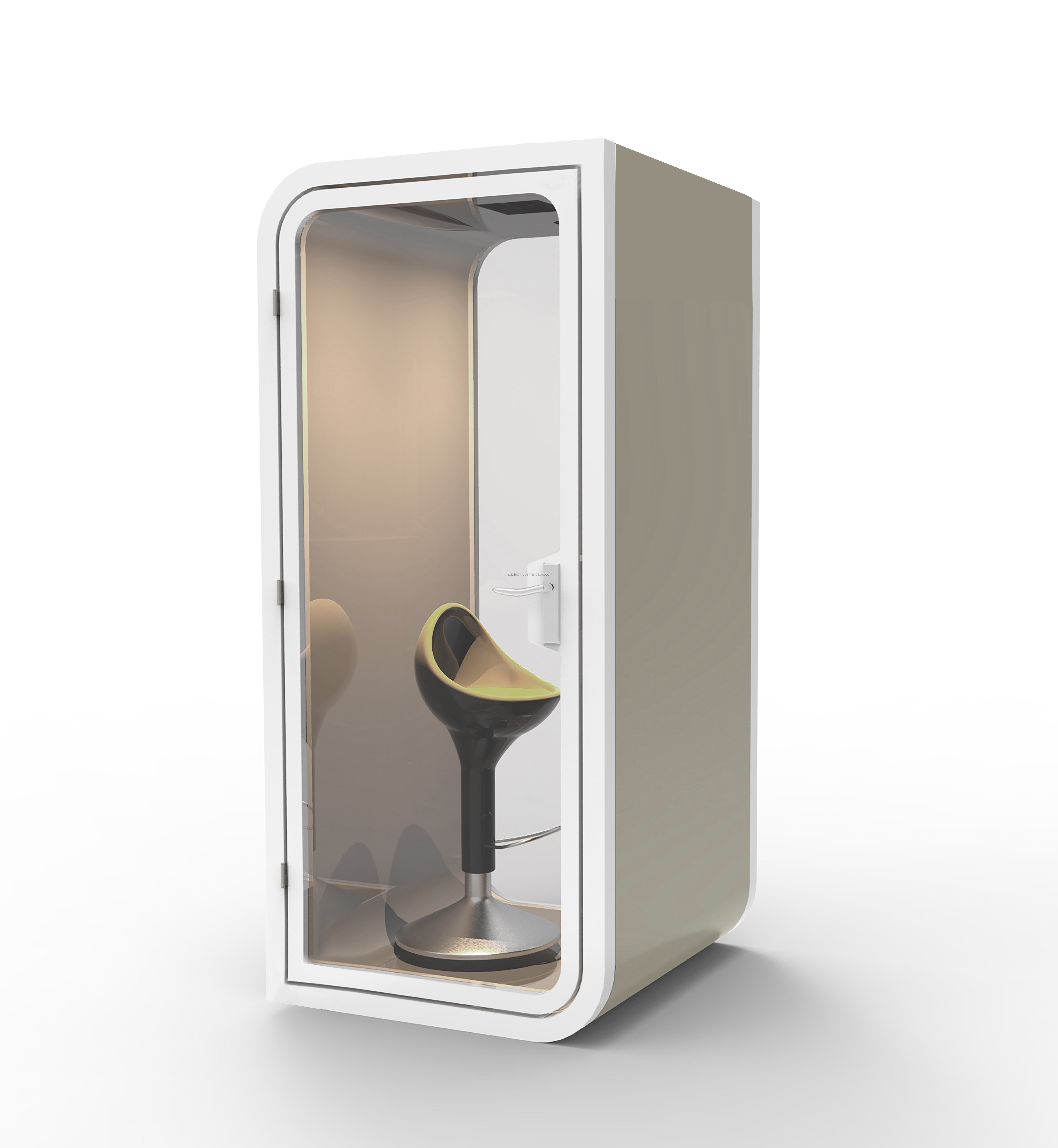 galvanized steel soundproof office phone booth as privacy pod with multi-color