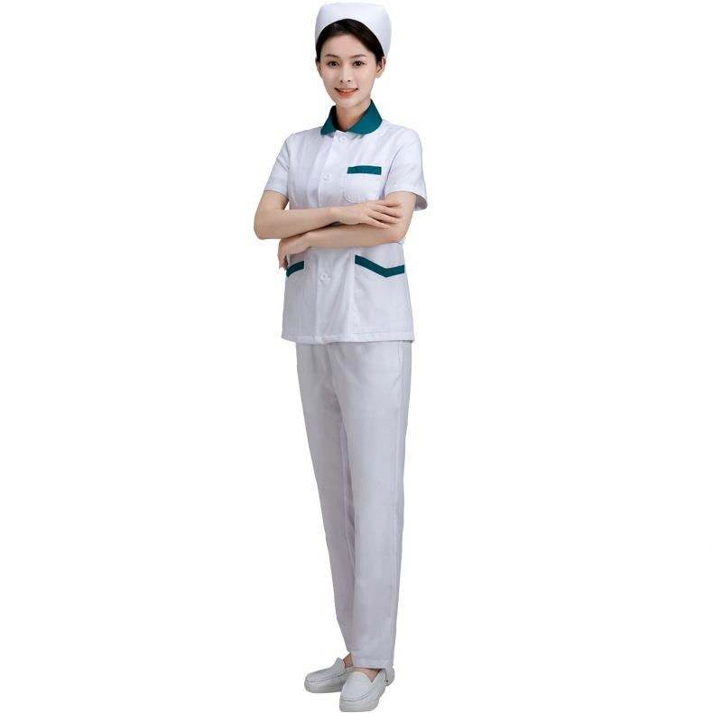 Nurse Uniform New Sets Women Dress Nurses 2020 Style Modern Cotton Shirts Uniforms Printed Cherokee Cheap Nursing Set Suit