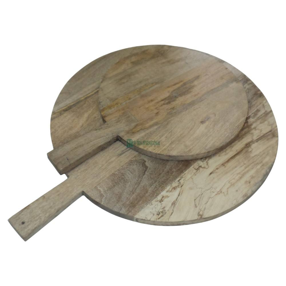 Round Chopping Board - Pizza Board - Wood - Bread Cutting Board - High Quality - Durable - Handmade- Wholesale Bulk Manufacturer