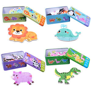 Customized kids animal 6 in 1 Jigsaw Puzzle toys child educational Puzzle Toy for Kids/Adults birthday Gift