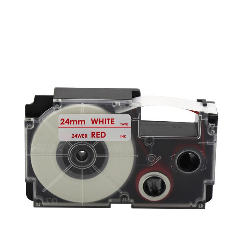 Compatible 24mm color label tape 24WE 24RD 24BU 24YW 24GN for Casios EZ series label printers