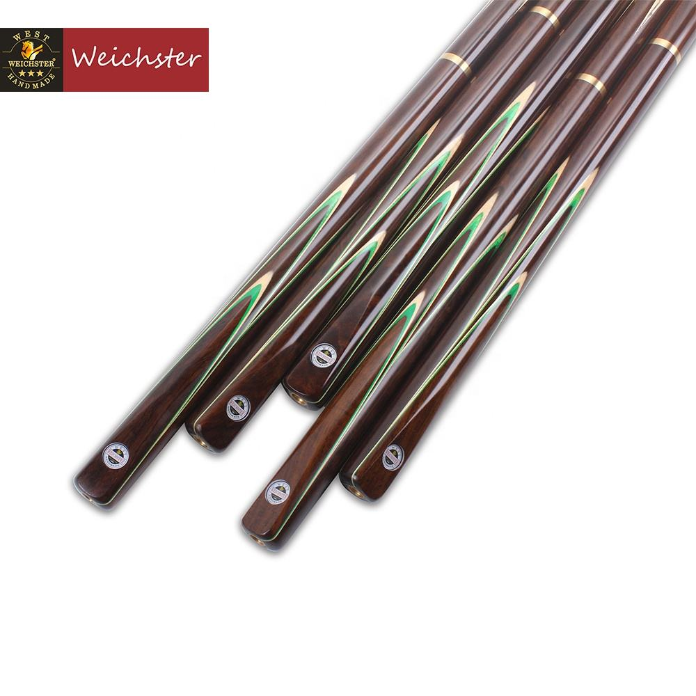 Weichster 3/4 Jointed Snooker Cue Handmade Ash Rose Wood Pool Cue