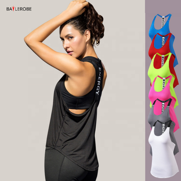 BATTLEROBE Wholesale women Sports tank top woman Quick Dry Comfortable Fitness Gym Sports Sleeveless Wear Clothing crop Top