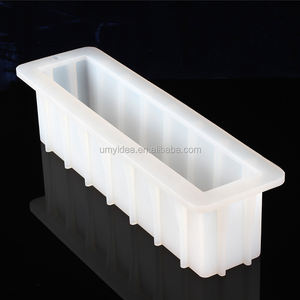 12'' No-Bows Easy Unmould Tall Skinny Natural Soap Silicone Mold Loaf DIY Handmade Swirl Rendering Mould Soap Wholesale