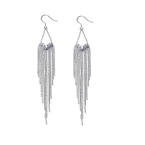 2020 new Fashion anti allergy 925 silver needle tassel long style female earrings, jewelry wholesale