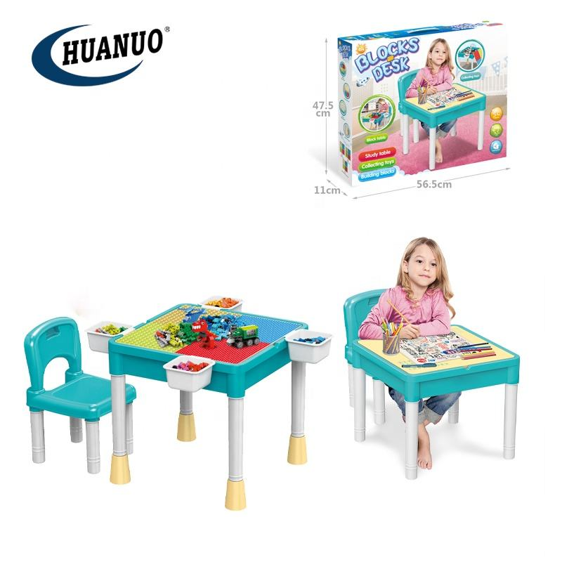 diy multifunctional building table and chair educational toy block for children