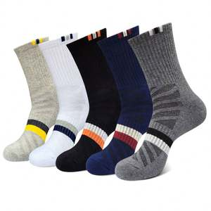 Direct manufacturer custom men cotton sports crew athletic crew socks cotton