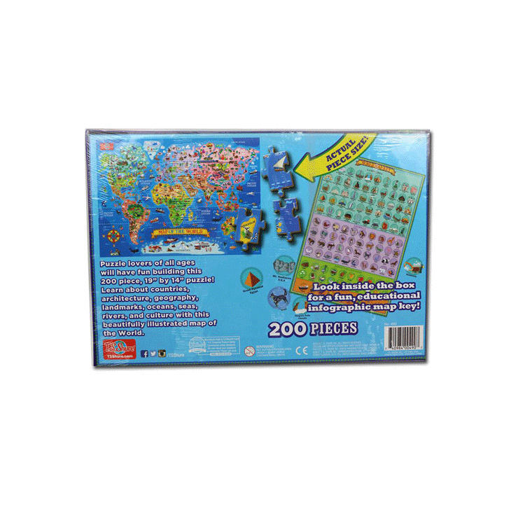 Creative World Map200 Piece Puzzle Toy for Children Adult