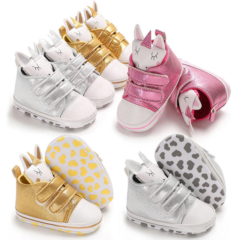 New 0-1-year-old Magic Stick Cartoon Girl Baby Soft-soled Slip-proof Leisure Walking Shoes