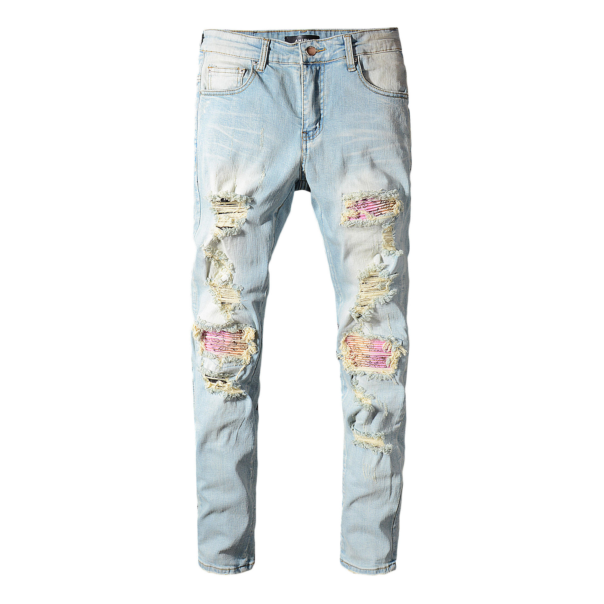 Factory Supplier Good Price Ripped Skinny Pants Denim Jeans Men