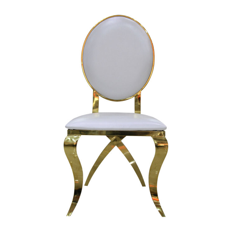 Unique gold crossed legs round back latest quality hotel leather banquet chair