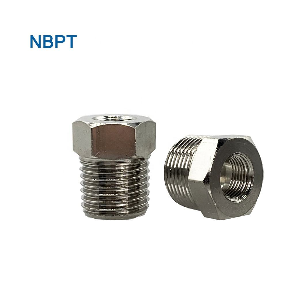 Female Male Adaptor Combined Type Fittings Brass Step Down Threaded Pipe Bushing Brass Fittings