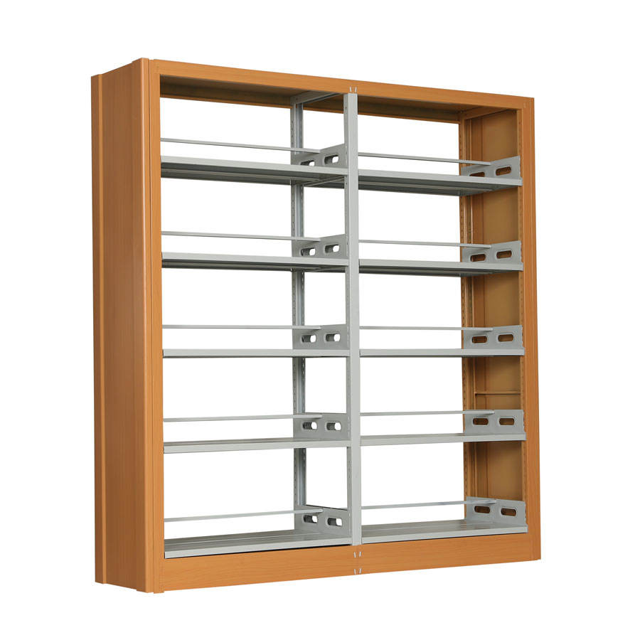 Double Sided Modern Metal Library Shelves for School or Library