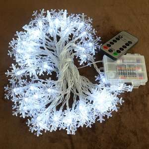Sneeuwvlok Kerst LED String, 10ft 20LED 20ft 40 LED String Sneeuwvlok Fairy LED String Lights Kerst Decoraties