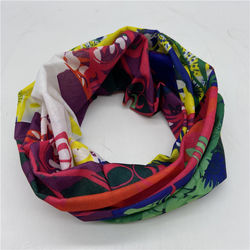 New arrival muti-functional bandanna seamless neck scarf tube head-wear magic bandanna colorful leaf