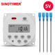 CN101S 1 Second Interval 5V DC/AC Digital Timer Switch Electric Programmer Auto Switch ON/OFF with 4 Connecting Wires