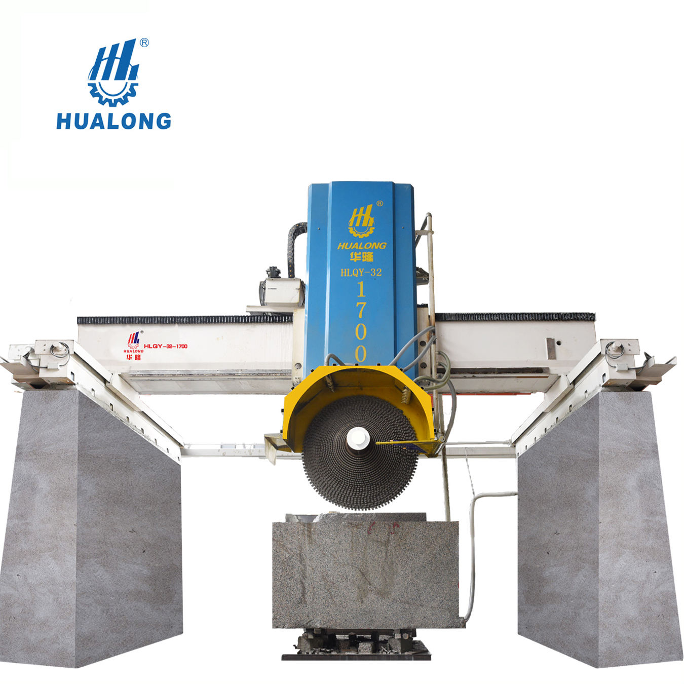 HLQY-32-1700 HuaLong Machinery Multi-blade Granite Cutting equipment natural stone cutting split machine with high efficiency
