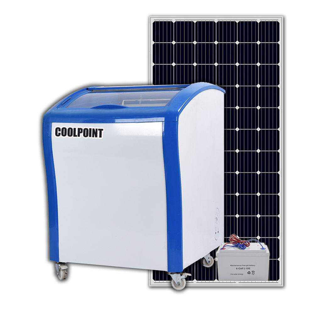 Coolpoint SD/SC-150Y Solar freezer mobile refrigerator for vending