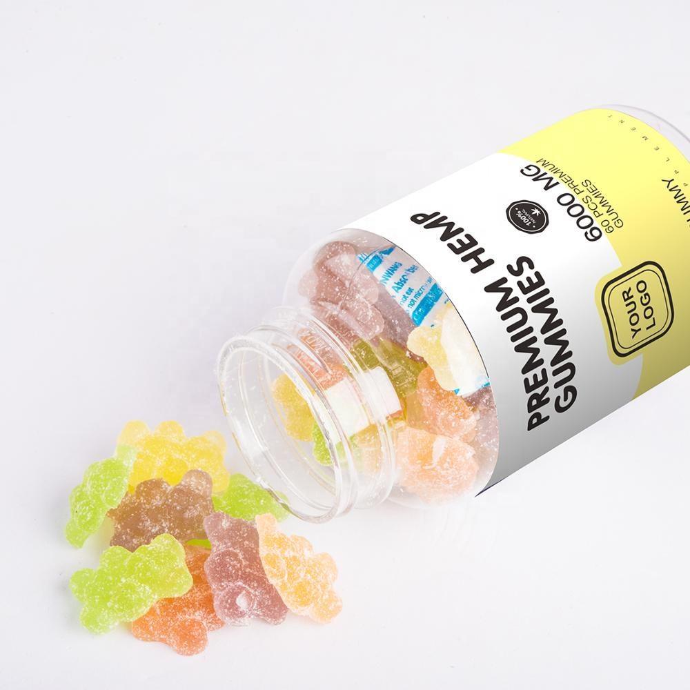 60 Piece Bottle Hot sale Amazon Organic Hemp Gummy bears vitamins gummies with private label Amazon FBA Supplier Ready