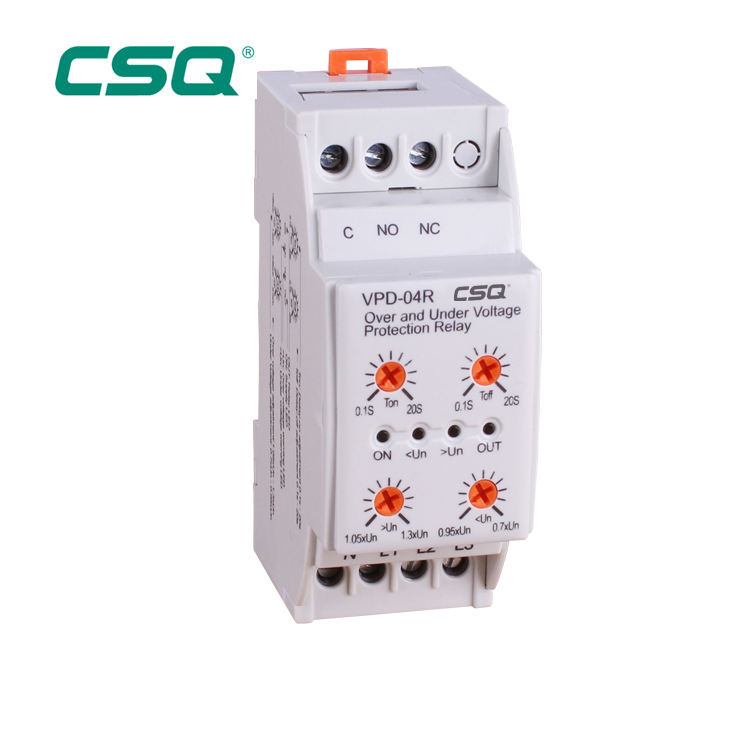 Time delay 3 phase voltage monitoring relay 220V AC CE industrial over under voltage current protective relay supplier