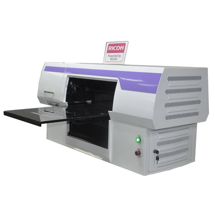 business card printing machine pen printing machine KGT-LE-4550C on metal acrylic PVC board A4 uv printer